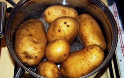 дышать над картошкой