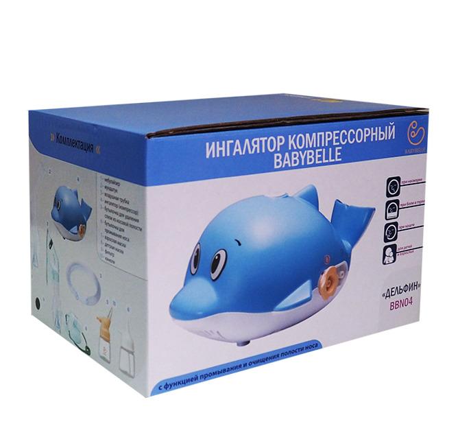 ингалятор компрессорный babybelle дельфин