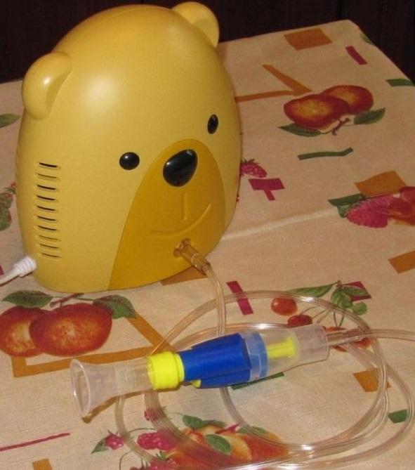 детский компрессорный небулайзер мишка