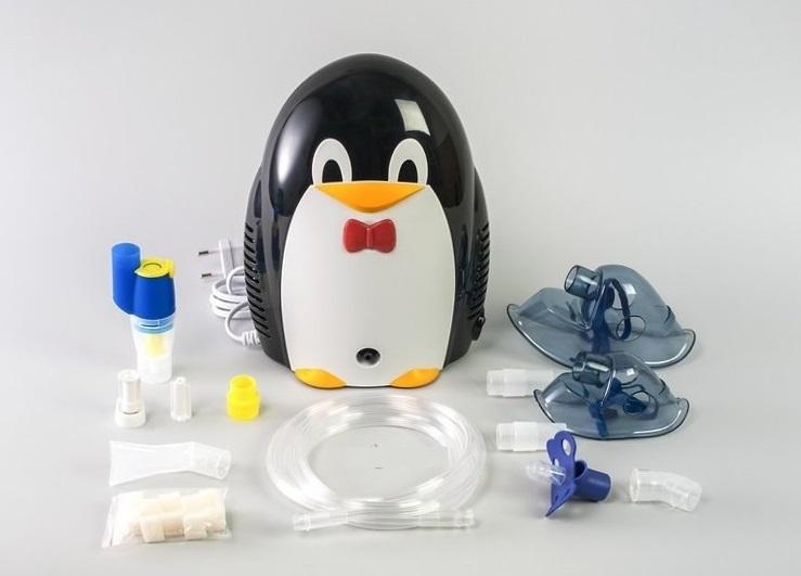 детский компрессорный ингалятор небулайзер пингвин med2000